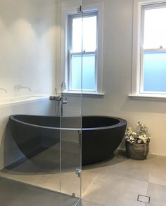 Autumn stone bath in Matt black. Stone Bath, Bathtub, Canning, Bathroom, Autumn, Instagram, Design, Black, Standing Bath