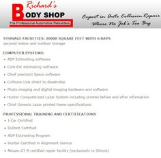 Richards Body Shop - STORAGE FACULTIES Collision Repair, Shop Storage, The Body Shop, Outdoor Storage, Shopping