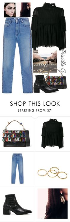 """""""Travel Korea, Day #9"""" by priscillaanakwah ❤ liked on Polyvore featuring Fendi, See by Chloé and MSGM"""