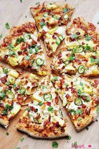 Base de pizza Pulled Pork Pizza, I Love Pizza, Mini Pizzas, Pizza Dough, Empanadas, Pizza Recipes, Cilantro, Vegetable Pizza, Pineapple