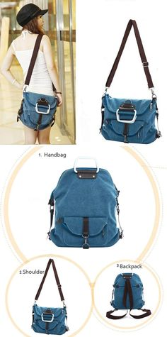 A Magic Backpack Unique Multi Function School Canvas Shoulder Bag College