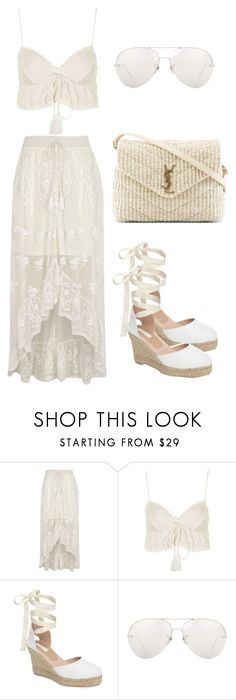 """Untitled #173"" by aliinnnaaa ❤ liked on Polyvore featuring River Island, Topshop, Linda Farrow and Yves Saint Laurent"