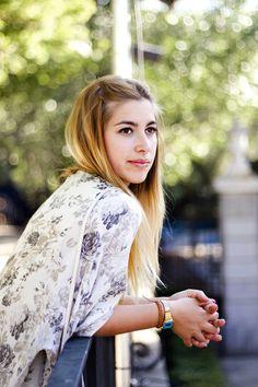 Laura, Jardines de Sabatini. Julio 2014