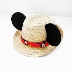 Are you visiting the happiest place on earth? Well OH BOY have we got the hat for you! Channel your favorite mouse in this Mickey Mouse Fedora hat! Perfect for magical fun in the sun! Mickey Mouse Ears Hat, Disney Mickey Ears, Disney Boys, Cute Disney, Disney Inspired Outfits, Disney Outfits, Disney Style, Disneyland, Disney Headbands