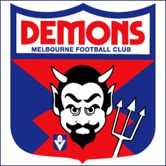 When Melbourne changed jumper colour back to Navy Blue in the logo stayed in Royal Blue for several years. Football Icon, Football Team Logos, Australian Football, Funny Character, Cartoon Memes, Sports Pictures, Art Logo, Me As A Girlfriend, Childhood Memories