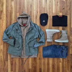 @hm jacket @424inc hoody @threadworkshop shirt @ysl denim @yeezyseason2 boots @dennistodisco / @outfitgrid