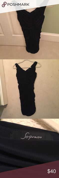 Navy Soprano Bodycon Dress navy, stretchy material size Small purchased from Nordstrom. beautiful dress that stretches and fits all body shapes really well Dresses Mini