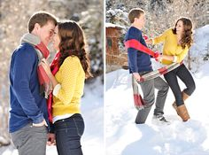Such a cute winter engagement session!!  Rebekah Westover Photography ~ Engagement. This is what I want!!