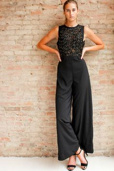 Elly Lace Jumpsuit | Glamour and Glow
