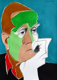 Ritratto di Alberto Moravia. Portrait of Alberto Moravia. 2013. Gabriele Donelli ჱ ܓ ჱ ᴀ ρᴇᴀcᴇғυʟ ρᴀʀᴀᴅısᴇ ჱ ܓ ჱ ✿⊱╮ ♡ ❊ ** Buona giornata ** ❊ ~ ❤✿❤ ♫ ♥ X ღɱɧღ ❤ ~ Wed 14th Jan 2015