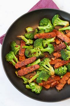 This one-skillet teriyaki tempeh and broccoli is load with flavor and perfect for weeknights when you need to get a healthy meal on the table fast!