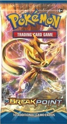 This is a sealed booster pack of the BREAKPoint expansion of the Pokemon Trading Card Game.