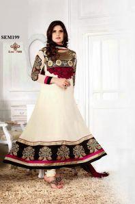 New Collection Buy Zarine Khan Designer White Anarkali Suit|Dress Material|Ethnic Wear