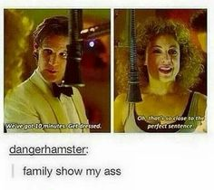doctor who, eleven, river song, family show Gentlemans Club, Dr Who, Tardis, Doctor Who Funny, Bad Wolf Doctor Who, 11th Doctor, Eleventh Doctor Quotes, Fandoms, Family Show