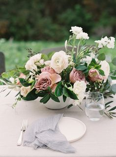 6 Feb 2020 - If you're on the hunt for ideas that will take your wedding day to next level romance, then this photo shoot has your number. It all starts with florals. at every turn. Mauve Wedding, Elegant Wedding, Floral Wedding, Wedding Flowers, Wedding Day, Timeless Wedding, Dream Wedding, Wedding Table Centerpieces, Floral Centerpieces