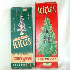 Before we got the silver tree, we would cover the green ones in this.