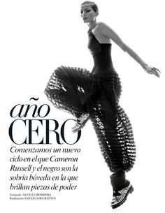 visual optimism; fashion editorials, shows, campaigns & more!: año cero: cameron russell by alexi lubomirski for vogue mexico october 2014