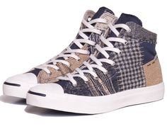 "Converse Jack Purcell ""Boro"" Patchwork Dark Navy High-Top Sneaker"