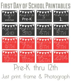 Our Thrifty Ideas | Free First Day of School Printables | http://www.ourthriftyideas.com