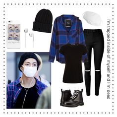 """Airport-Fashion (Taehyung Inspired)"" by parkjiminie ❤ liked on Polyvore featuring Rails, Vince, Dr. Martens and The Elder Statesman"