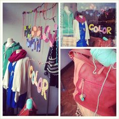 Fall In Love With Color! New window display, come check it out! #fall #love #fashion #ArcadiaBoutique Web Instagram User » Followgram