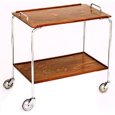 Antique and Vintage Carts and Bar Carts - For Sale at Bar Cart Decor, Serving Cart, Vintage Table, Home Renovation, My Dream Home, Cool Furniture, Home Kitchens, Repurposed, Hardwood Floors