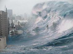 Tsunami - wave, destruction, city, tsunami