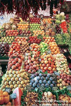 Boqueria Market Fruit Stand, Barcelona - http://andrewprokos.com