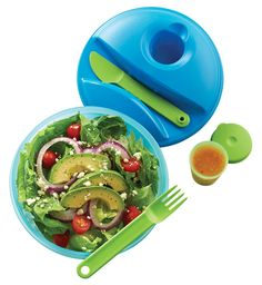 Salad On the Go Set. Ideal for both on-the-go and at-home use. Everything snaps together for the ultimate in convenience.