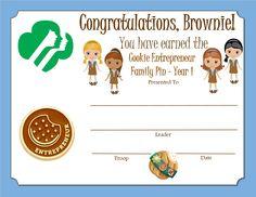Brownie Girl Scouts, Brownie Cookies, Scouting, Troops, Entrepreneur, Congratulations, Printable, Brownies, Cake Brownies