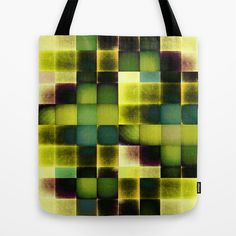 COLOURFUL HILLS V Tote Bag by Pia Schneider [atelier COLOUR-VISION]  #bestsellers #totebag #bags #totes #art #geometric #pattern #green #lemon #yellow #blue #piaschneider #gift #decorative #giftidea