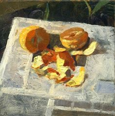 Jon Redmond. This reminds me of my dad, he always eats an orange while doing the crossword in the newspaper.