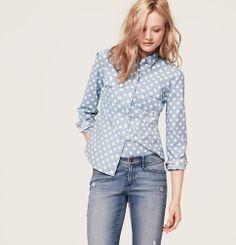 Big Dot Softened Shirt | Loft