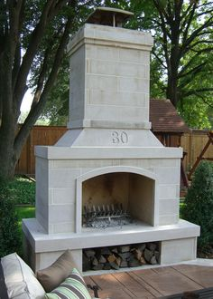 """24"""" Veranda Series Outdoor Fireplace Kit which would look fabulous on the patio..."""