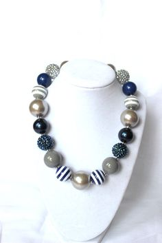 Hey, I found this really awesome Etsy listing at http://www.etsy.com/listing/154453144/chunky-bead-necklace-fall-silver-navy