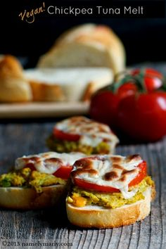 Vegan Chickpea Tuna Melts are a favorite and easy summer sandwich at our house!