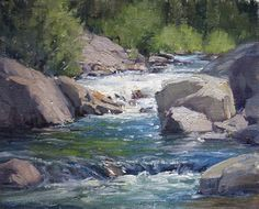 Riffle by Kathleen Dunphy Oil ~ 8 x 10
