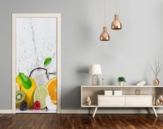 3D Home Art Door Self Adhesive Removable Sticker Decal Food Fruits DS_274