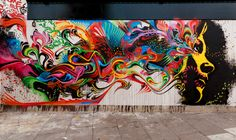 """Mente Queztal""_ Street art by Stinkfish_ London UK"