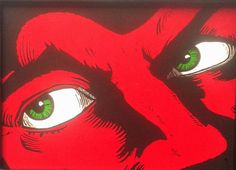 The Green-Eyed Monster  Original Handmade Stencil by DrStencil