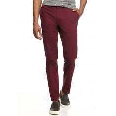 Red Camel Bronson Red Slim Stretch Chino ($35) ❤ liked on Polyvore featuring…