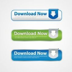 download with arrow ui buttons vector set