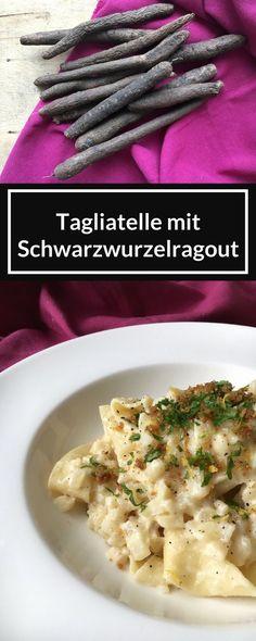Tagliatelle mit Schwarzwurzelragout - New Site Yummy Veggie, Veggie Recipes, Zucchini Pesto, Spaghetti Squash Recipes, Pesto Pasta, Winter Food, Italian Recipes, Food Inspiration, Food And Drink