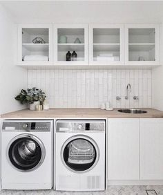 Best Laundry Room Decorating Ideas To Inspire You - Page 31 of 53 - VimDecor laundry room ideas, laundry room organization, laundry room design, laundry room decor Laundry Room Cabinets, Laundry Room Organization, Laundry In Bathroom, Basement Laundry, Laundry Closet, Diy Cabinets, Laundry Shelves, Laundry Storage, Laundry Room With Sink