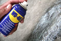 Removing Oil Stains from Driveways with WD-40 (just might have to try this!)