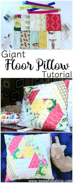 Giant Floor Pillow Tutorial   www.sewwhatalicia.com