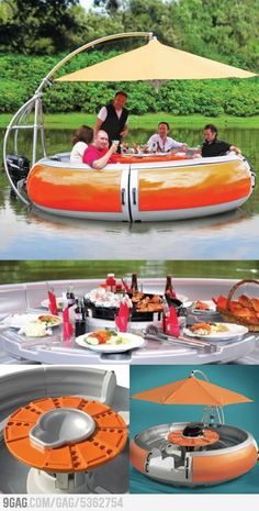 You get to lounge!!! But on water too?!? OMG!