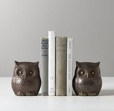 $69 Owl Bookends - Set of 2
