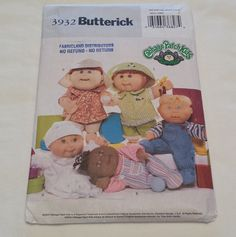 Hey, I found this really awesome Etsy listing at https://www.etsy.com/ca/listing/265232865/cabbage-patch-kids-butterick-3932-uncut