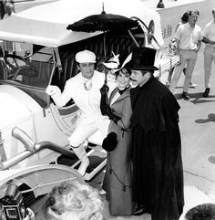 """4433379 - Actors Tony Curtis, left, Natalie Wood and Jack Lemmon stand in costume on the set of """"The Great Race"""" in Hollywood, Calif., on June (AP Photo) Jack Lemmon, Golden Age Of Hollywood, In Hollywood, Blake Edwards, The Great Race, Tony Curtis, Turner Classic Movies, Natalie Wood, Iconic Movies"""